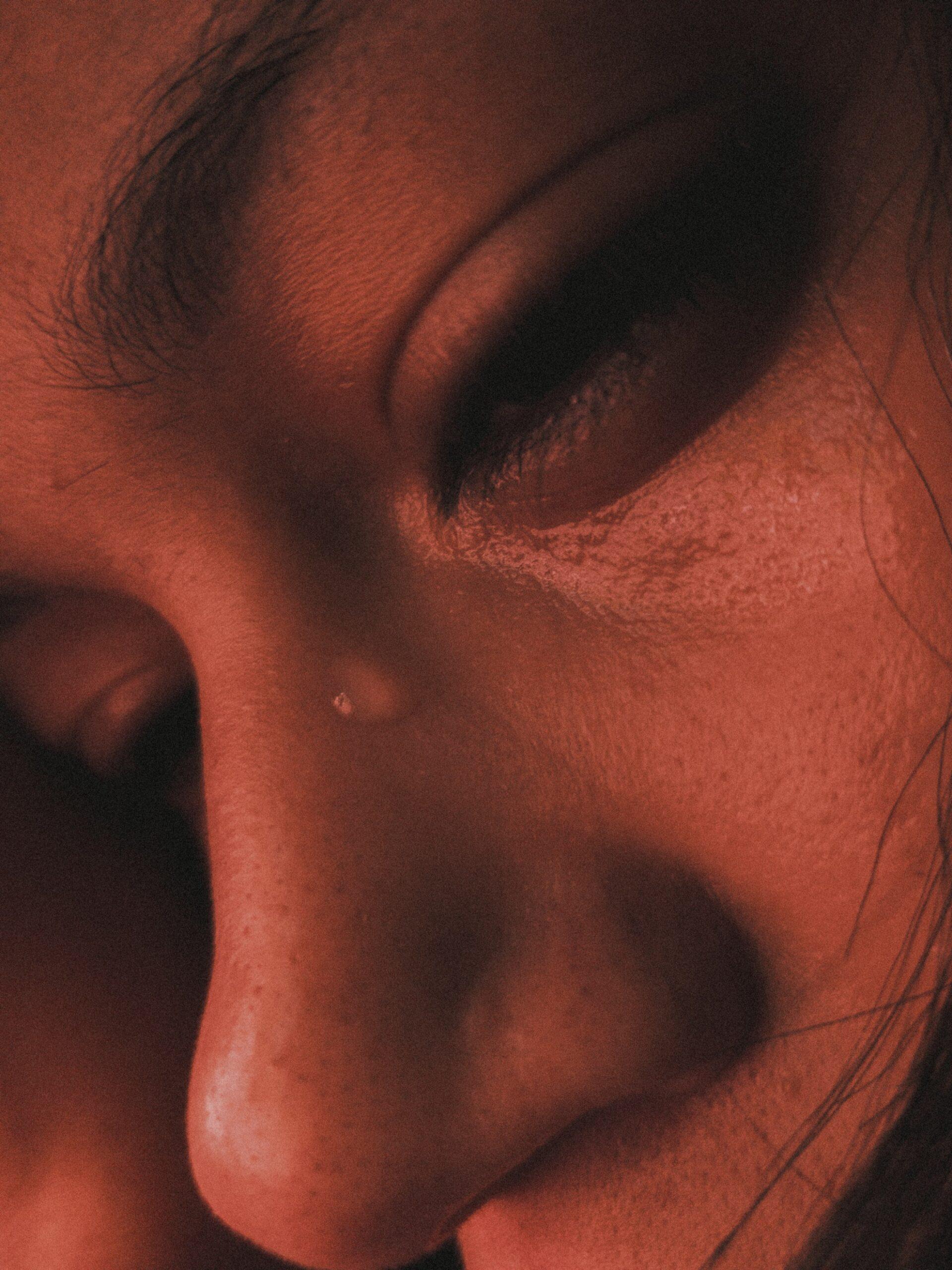 Visage larmes