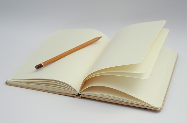 Cahier page blanche