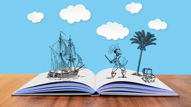 Livre,chasse au trésor, pirates