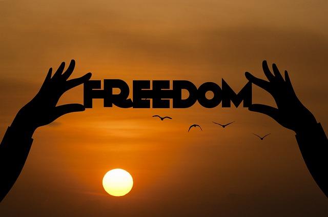 freedom coucher de soleil