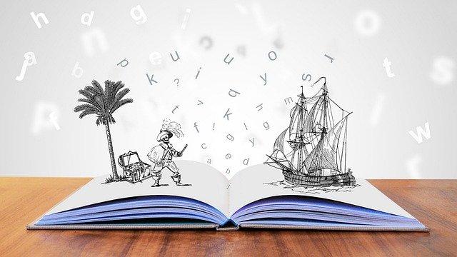 imaginaire, livre, île, bateau