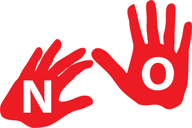Mains qui disent NO